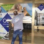 Installazione delle vetrofanie