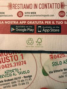 Pieghevole Mucho Gusto - certificazione FSC carta riciclata